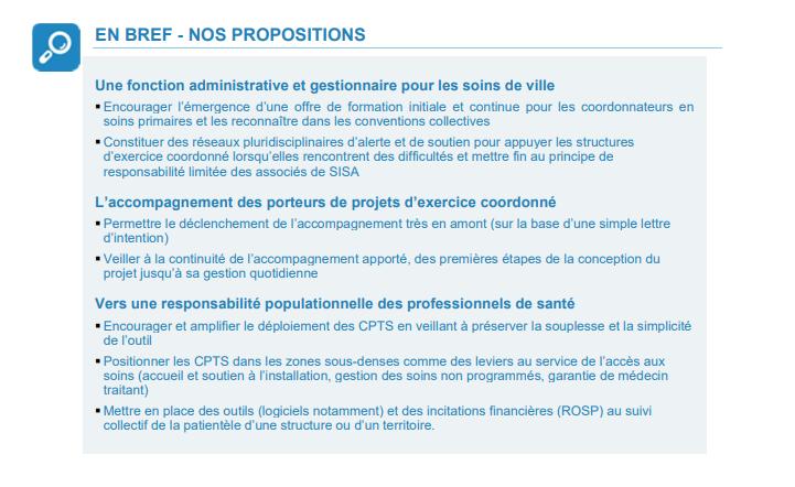 propositions rapport accès aux soins