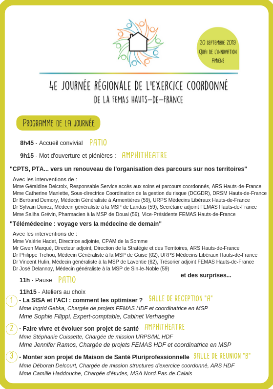 Programme journée FEMAS 2019